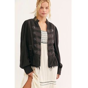 Free People Ariana Jacket in Washed Black.